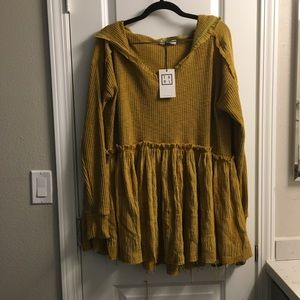 THML Hooded Sweater Dress